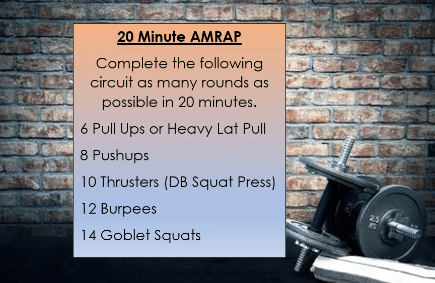 20 Minute AMRAP
