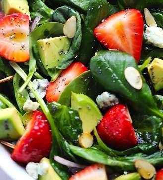 Avocado & Strawberry Spinach Salad