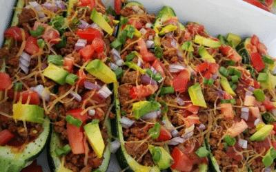 Zucchini Boat Tacos
